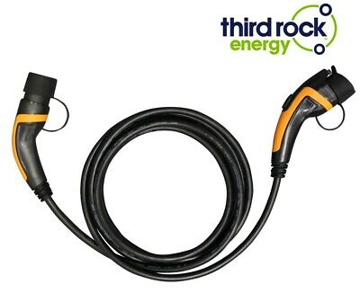 EV Electric Vehicle Charging Cable Type 1 to Type 2 32 Amp 7.2KW 250V 5 Metre