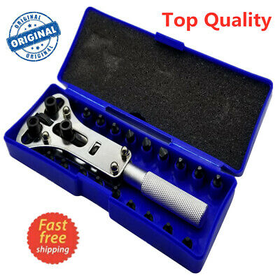 Watch Back Case Battery Cover Opener Repair Wrench Screw Remover Tool Set Kit TP