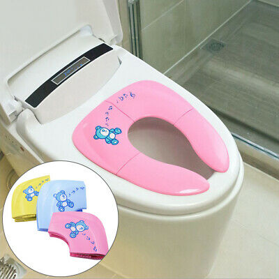 HOT Toddler Kids Baby Folding Potty Training Toilet Seat Cover Seat Pad Reusable