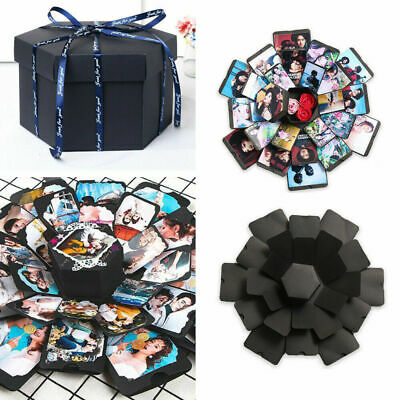 DIY Surprise Explosion Box Memory Scrapbook Photo Album Kits Anniversary Gifts