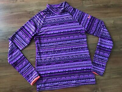 GIRLS Ladies Purple PATTERNED NIKE Dance GYM SPORTS TOP (age13-15) *GREAT COND*