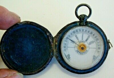 Early 20th century leather covered cased damp detector