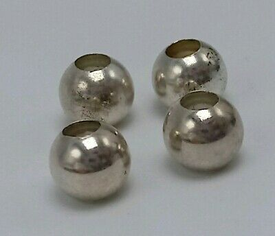 Sterling Silver 925 Spacer Bead Lot of (4) 7mm