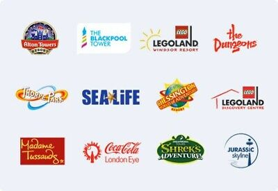 2 For 1 Online Merlin Attractions Code (Alton Towers,Legoland,Chessington, Etc)