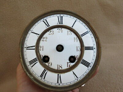 Antique Spring Driven Vienna Clock Movement For Spares Or Repair