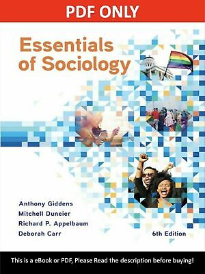 [P-D-F] Essentials of sociology 6th edition Fast Delivery digital book