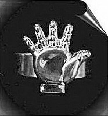 LOOK Celtic Open Hand Good luck Silver Ring Wicca Jewelry