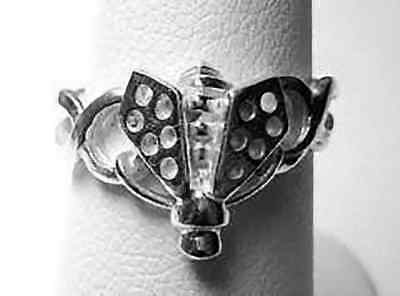 LOOK Old english house fly ring Sterling silver 925 jewelry