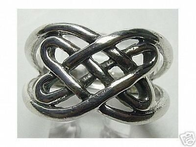 LOOK Sterling Silver 925 Celtic Ring Infinity knot Jewelry