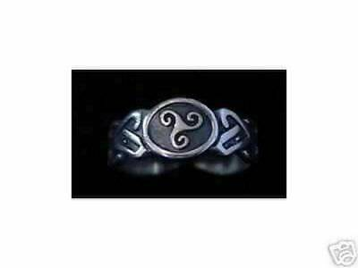 LOOK 2112 FYLFOT Ring Wicca Good Luck Silver Celtic Jewelry