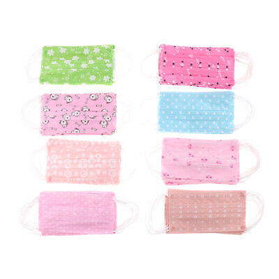 10Pcs Cute Disposable Medical Surgical Dust Ear Loop Face Mouth Mask A oq