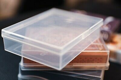 1 Dozen PCD Clear Plastic Playing Card Boxes for Poker Size Decks in Tuck Case