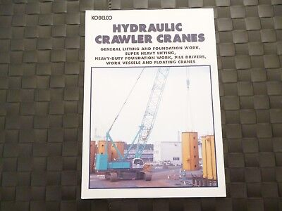 Kobelco Hydraulique Robot D'Indexation Grues 14 Page Brochure / Booklet Rare