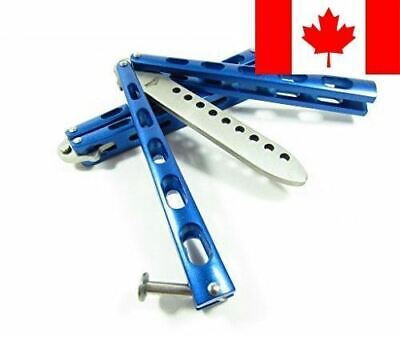 Icetek Sports 44477 Metal Practice Balisong Butterfly Knife Trainer, Blue
