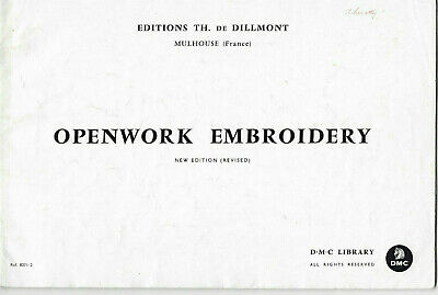 Openwork Embroidery DMC Library Stitches Photographs Patterns Book New Edition