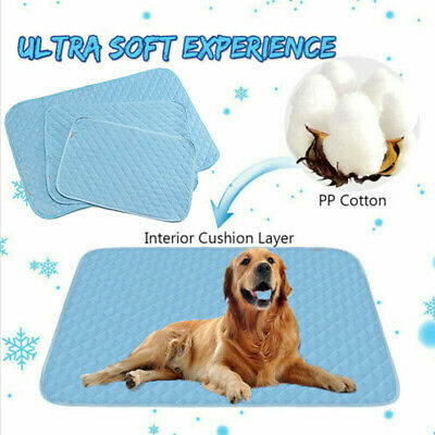 HOT Pet Dog Cat Puppy Cooling Mat Non-Toxic Cool Pad Summer Cooling Bed Cusion