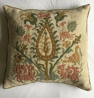Lovely Boho Floral  VINTAGE  Retro CUSHION COVER Tapestry Wool Needlepoint