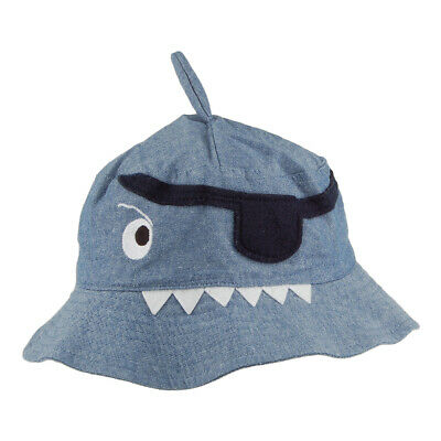 Joules Hats Kids Hatattack Pirate Shark Bucket Hat - Blue