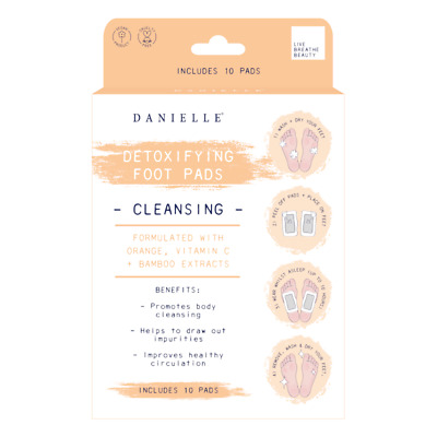 Cleansing Natural Detoxifying Foot Pads with Orange, Vitamin C & Bamboo Extract