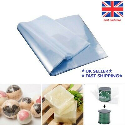 Multi-size Transparent Shrink Wrap Bag Film Heat Seal Pouch Gift Packing of 50