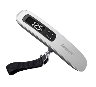 Digital Luggage Scale, 110lbs Hanging Baggage Scale with Backlit LCD Display