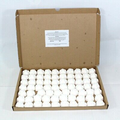 Bath Bombs Baby Powder scented 70 x 10g Flowers less mess reduced plastic