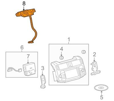 Toyota 86760-08011-D0 Telephone Antenna Assembly