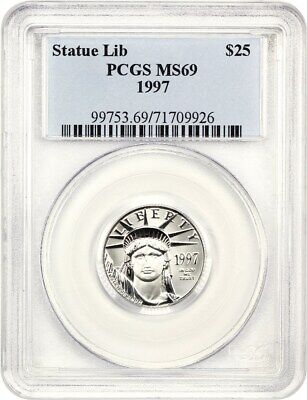 1997 Platinum Eagle PCGS MS69 - Statue Liberty 1/4 oz