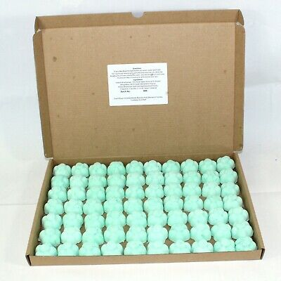 Bath Bombs Green Apple scented 70 x 10g Flowers less mess reduced plastic
