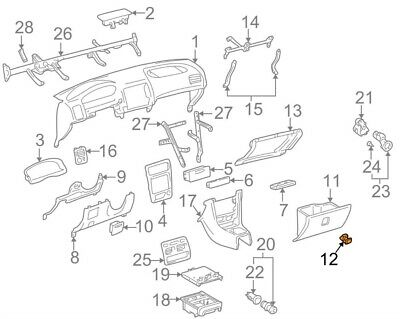 For Toyota Genuine Glove Box Latch Front 5556047020D0