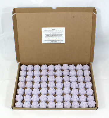 Bath Bombs Parma violet scented 70 x 10g Flowers less mess reduced plastic