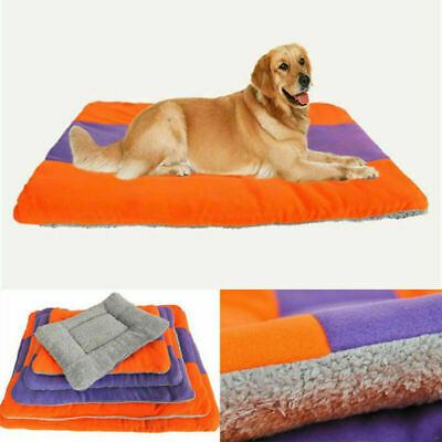 Soft Fleece Dog Cat Bed Cushion Pet Warm House Mat Cozy Pad Kennel Large Size