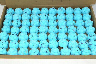 Bath Bombs True Blue-Dewberry scented 70 x 10g Flowers less mess reduced plastic