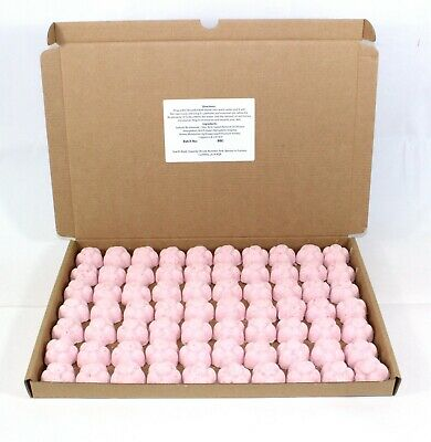 Bath Bombs Strawberry scented 70 x 10g Flowers less mess reduced plastic