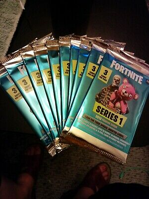 NEW 2019 Panini Fortnite Series 1 Trading Cards Sealed 10 Packs (holo/foil?)