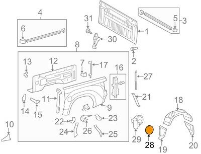 Genuine Toyota 77350-60010 Fuel Filler Opening Lid Assembly