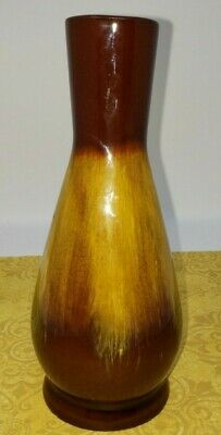 Blue Mountain Pottery Bud Vase 6in Harvest Gold Drip Glaze BMP Canada Vintage