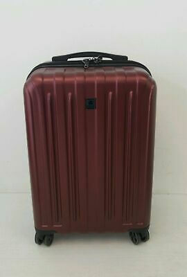 """Delsey 20"""" Carbonite Carry-On Spinner Luggage Suitcase BLACK CHERRY A-12.5-FZ16"""