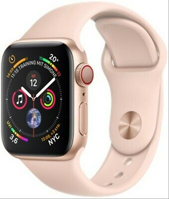 Apple Watch Series 4 40 mm Aluminiumgehäuse gold am Sportarmband sandrosa [Wi-Fi