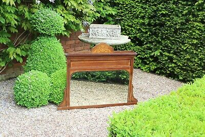 COUNTRY HOUSE SALE antique Victorian hall large overmantle mirror,wooden,regency