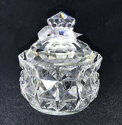 VIDALI COLLECTION - Premium Solid Crystal Lidded Trinket Candy Cotton Jar
