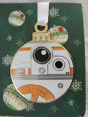 2017 Disney Pin Star Wars Droids Christmas Ornament Cute Droid BB-8 NOC