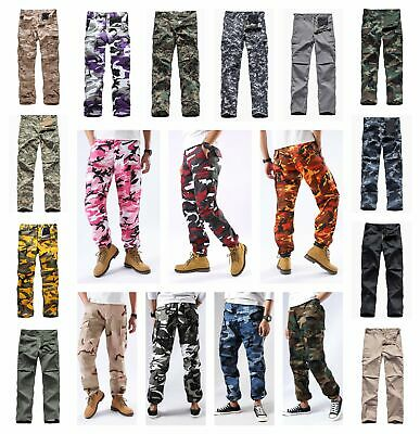 Mens Military Army BDU Pants Street Casual Camo Work Outdoor Cargo Pants