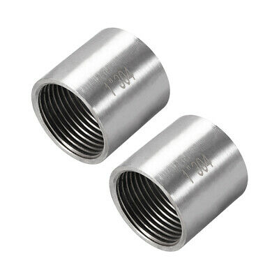 Stainless Steel 304 Cast Pipe Fittings Coupling 1 x 1 G Female 2pcs