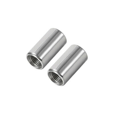 Stainless Steel 304 Cast Pipe Fittings Coupling Fitting 1/8 x 1/8 G Female 2pcs
