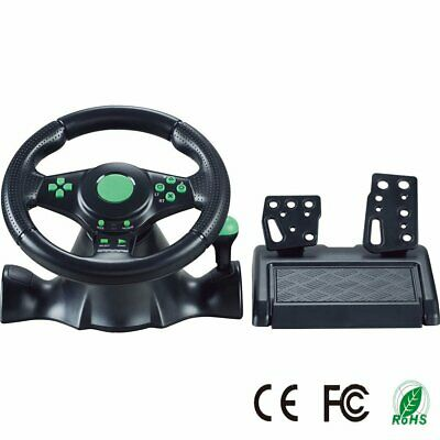 Gaming Vibration Racing Steering Wheel 23cmUK and Pedals for Xbox 360 PS3 PC USB