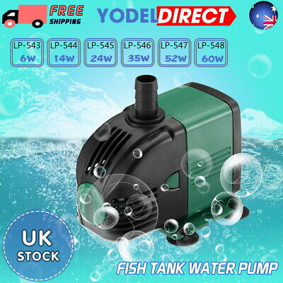 Water Pump Feature Fountain Outdoor Garden Fish Pond Completely Submersible UK