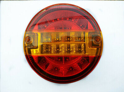 2x 12V TAIL LIGHTS BURGER REAR LAMPS CARAVAN CHASSIS TRAILER TRACTOR TRUCK LED