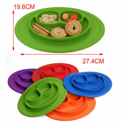 Cute BabyKids Child Toddler Suction Table Food TrayPlacemat Plate Bowl Happy Mat