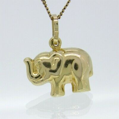 Yellow Gold ~ LUCKY ELEPHANT CHARM ~ Genuine 9ct / 9k GOLD